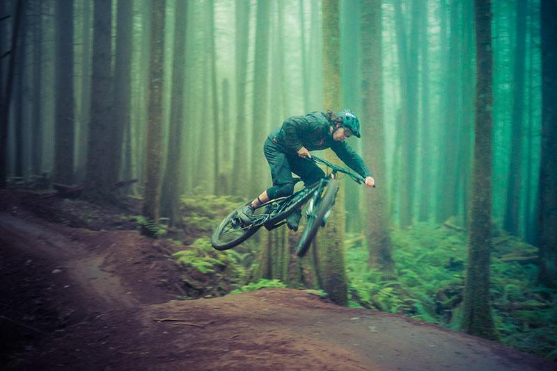 Mountain Bike Jump with Squamish Bike Guides on Half Nelson trail